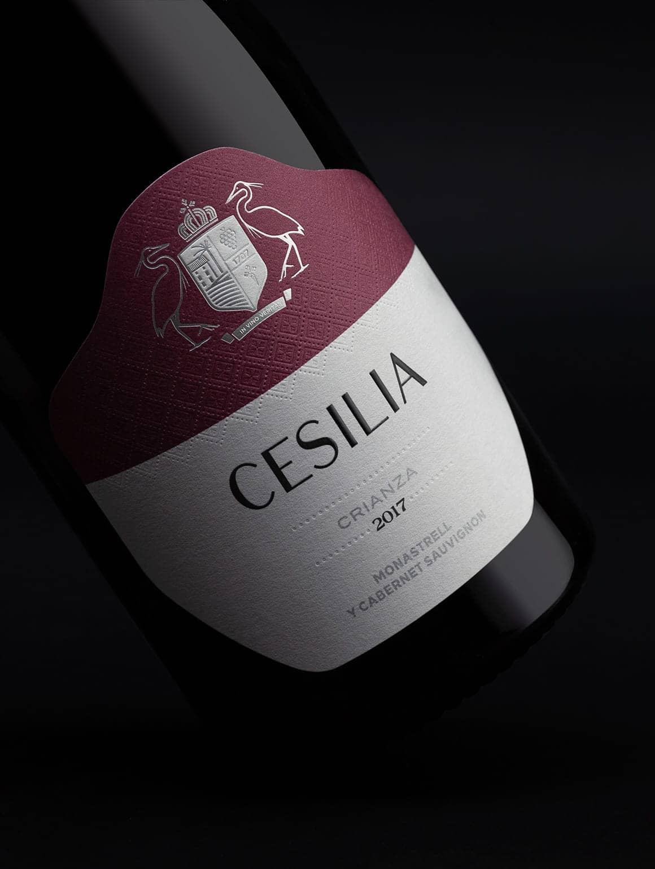 Detalle de etiqueta Cesilia Crianza