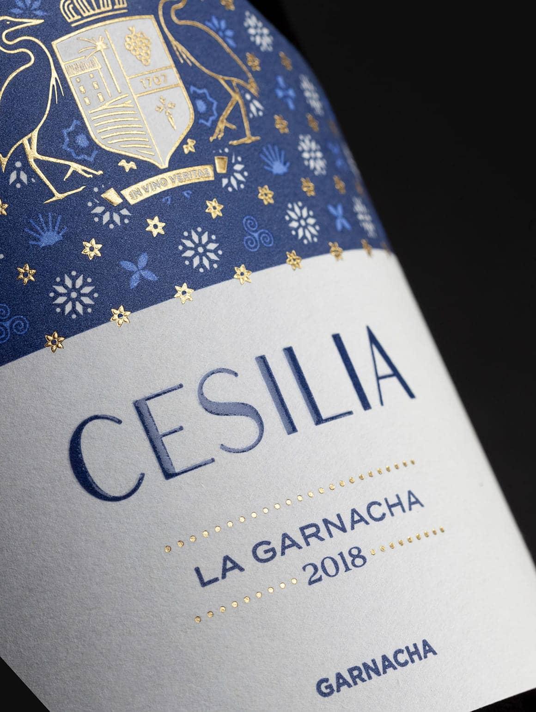 Detalle de etiqueta Cesilia La Garnacha