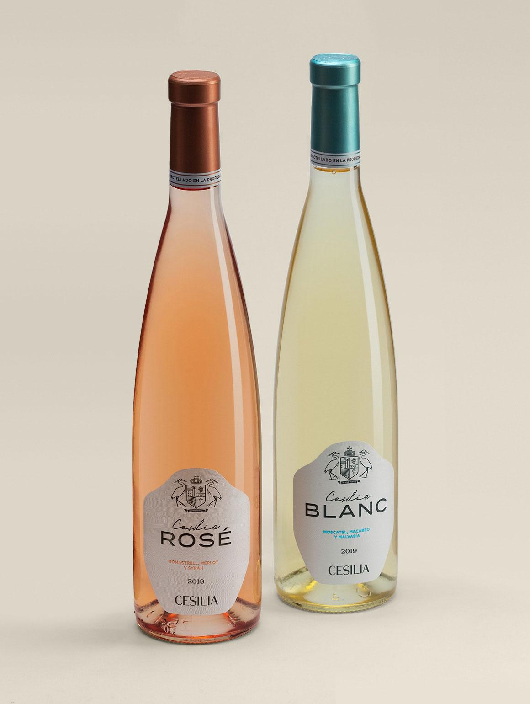 Botellas Cesilia Rosé y Blanc