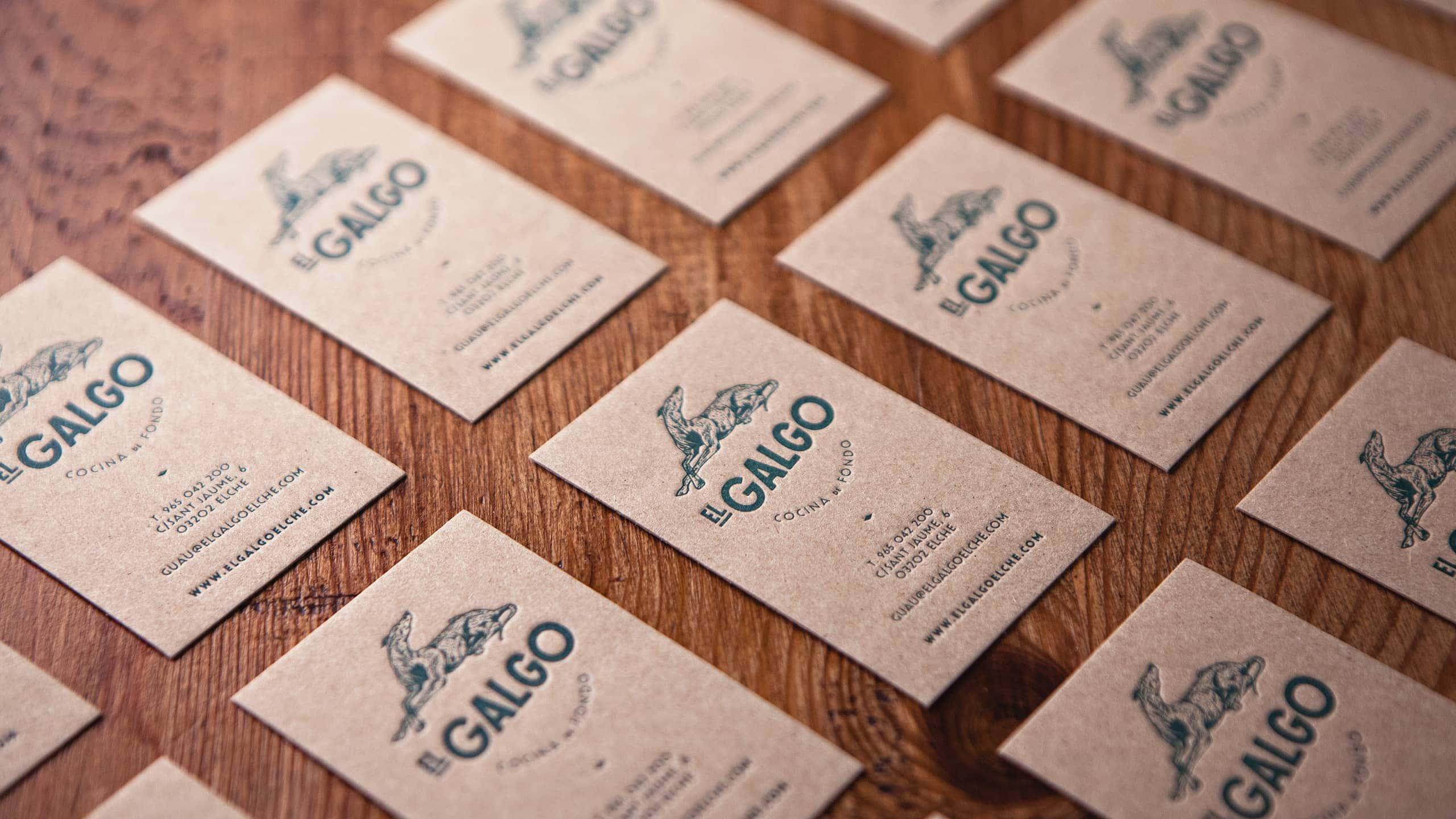 Tarjetas de visita El Galgo