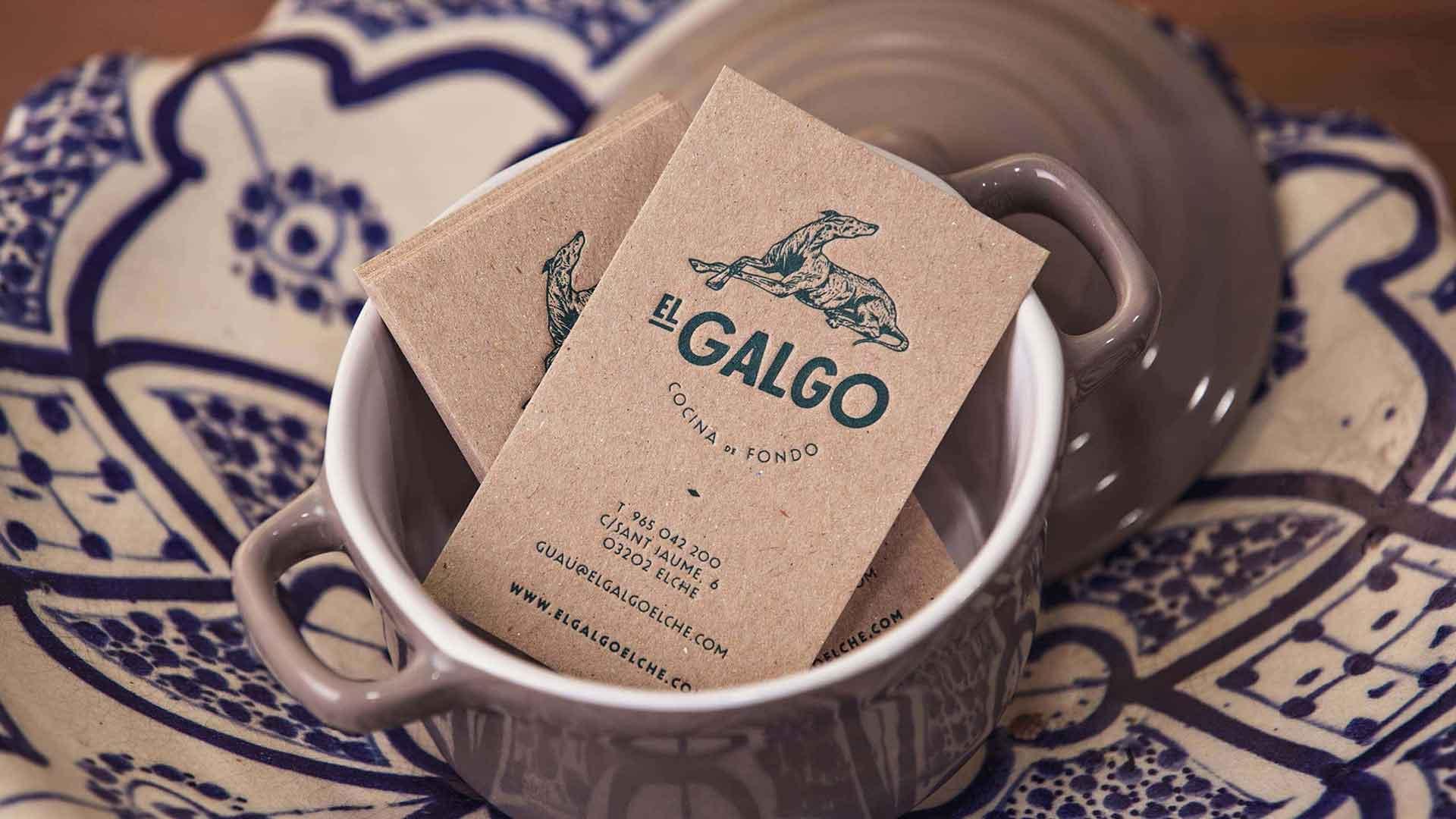 Tarjetas de visita restaurante El Galgo